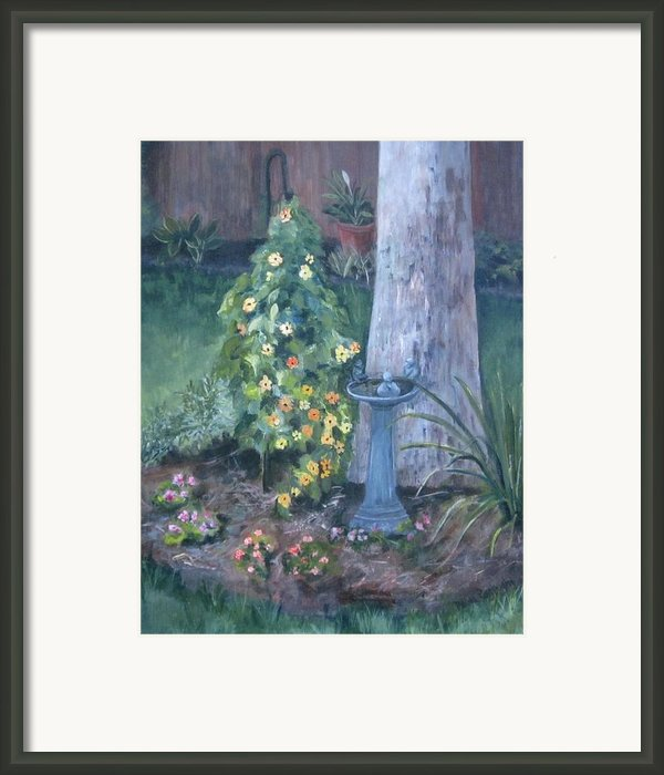 Backyard Framed Print By Paula Pagliughi