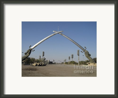 Baghdad, Iraq - Hands Of Victory Framed Print By Terry Moore