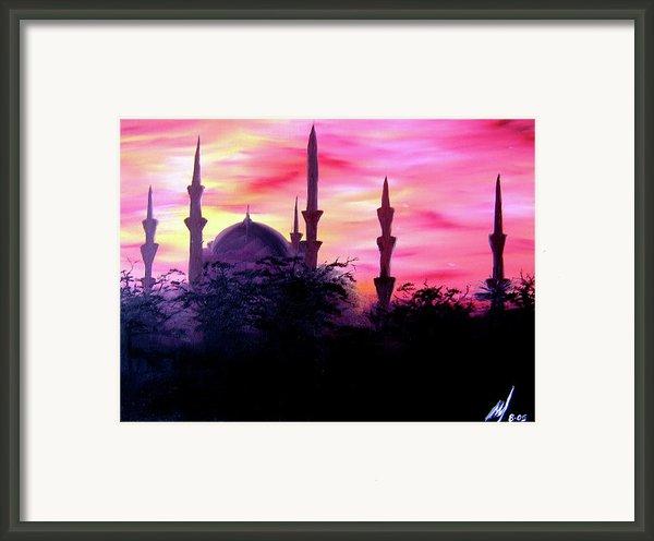 Baghdad Sunset Framed Print By Michael Mckenzie