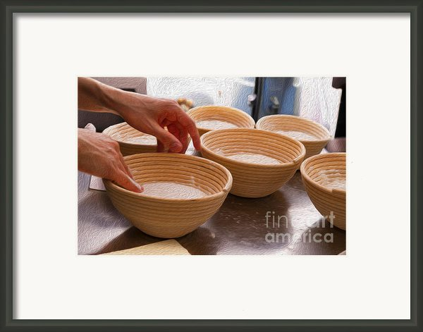 Baker Hands And Wooden Bowls Framed Print By Jorge Malo