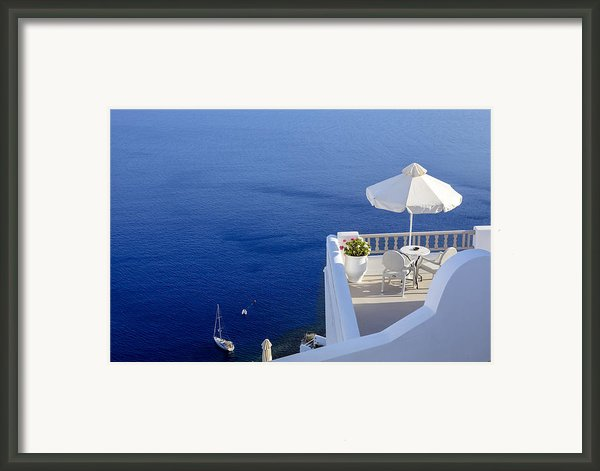 Balcony Over The Sea Framed Print By Joana Kruse