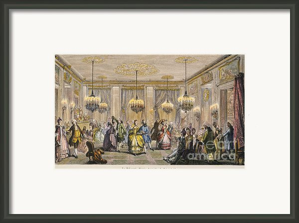 Ball, 18th Century Framed Print By Granger
