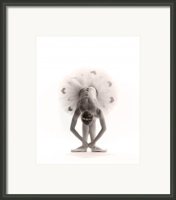 Ballerina Bent Framed Print By Steve Williams