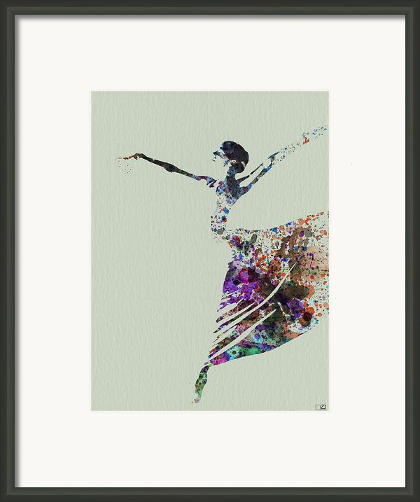 Ballerina Dancing Watercolor Framed Print By Irina  March