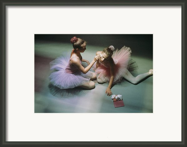 Ballerinas Get Ready For A Performance Framed Print By Richard Nowitz