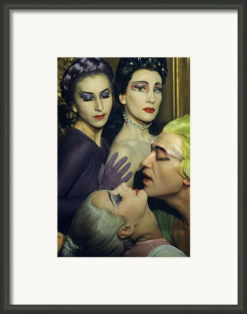 Ballet Dancers Appear In A Love Scene Framed Print By Justin Locke
