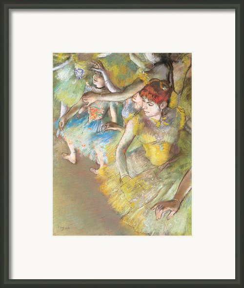 Ballet Dancers On The Stage Framed Print By Edgar Degas