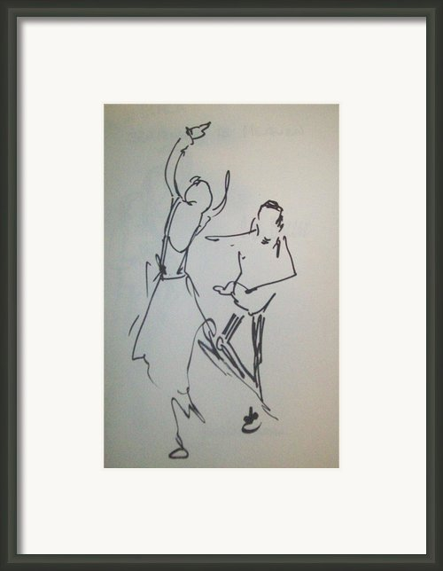 Ballet In The Park 2 Framed Print By James  Christiansen