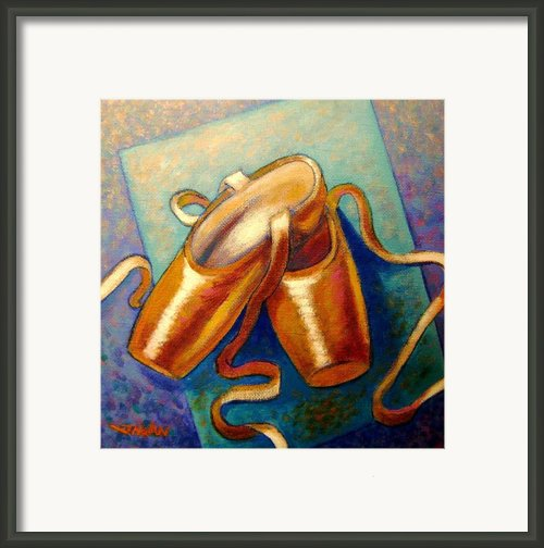 Ballet Shoes Framed Print By John  Nolan