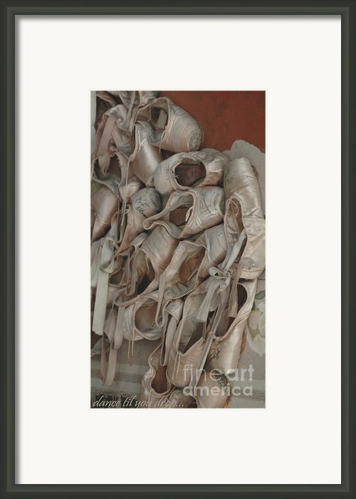 Ballet Slippers  Framed Print By Anahi Decanio