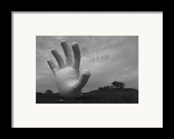 Balloon Hand Framed Print By Nina Mirhabibi