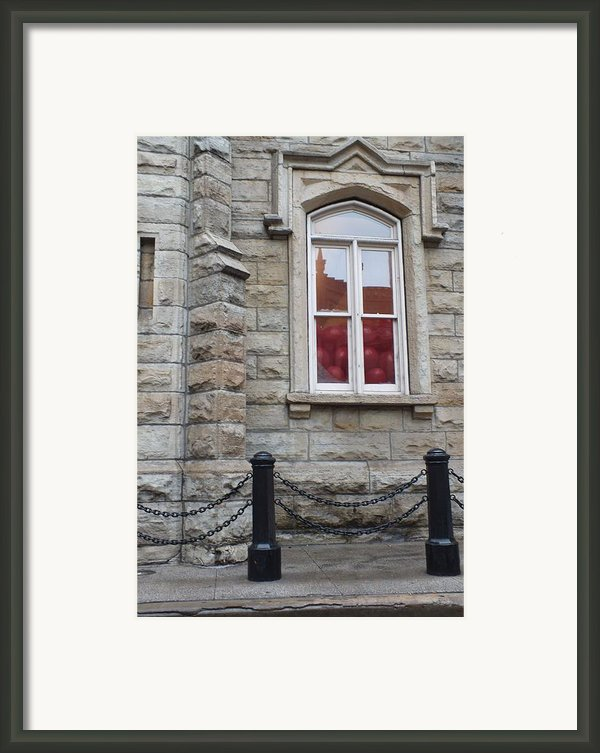 Balloons In The Window Framed Print By Anna Villarreal Garbis