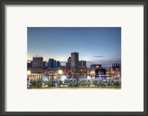 Baltimore Harbor Framed Print By Shawn Everhart