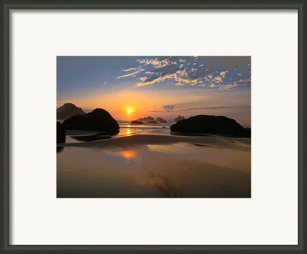 Bandon Scenic Framed Print By Jean Noren