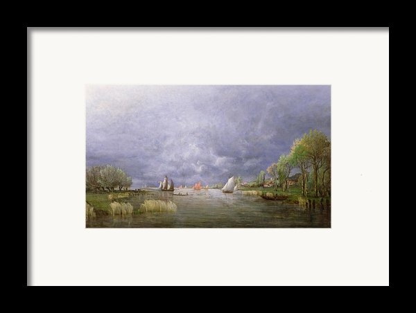 Banks Of The Loire In Spring Framed Print By Charles Leroux