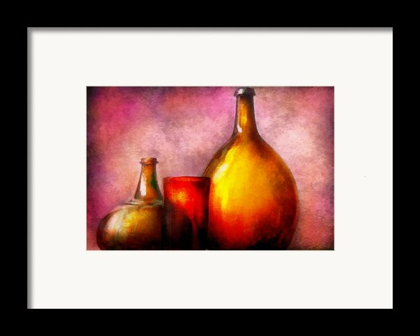 Bar - Bottles - A Still Life Of Bottles Framed Print By Mike Savad