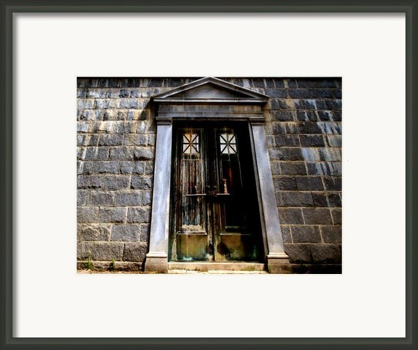 Bar Across The Door Framed Print By Bob Orsillo