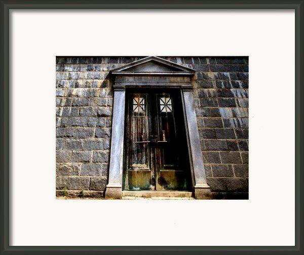 Bar Across The Door Framed Print By Bob Orsillo