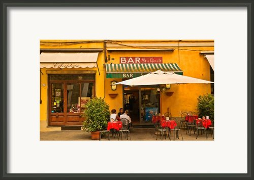 Bar San Giusto Framed Print By Mick Burkey