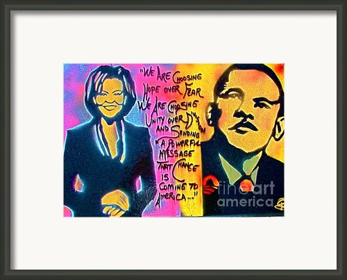 Barack And Michelle Framed Print By Tony B Conscious