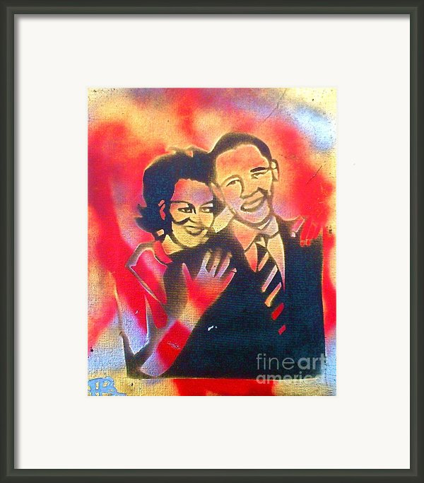 Barack Love Framed Print By Tony B Conscious