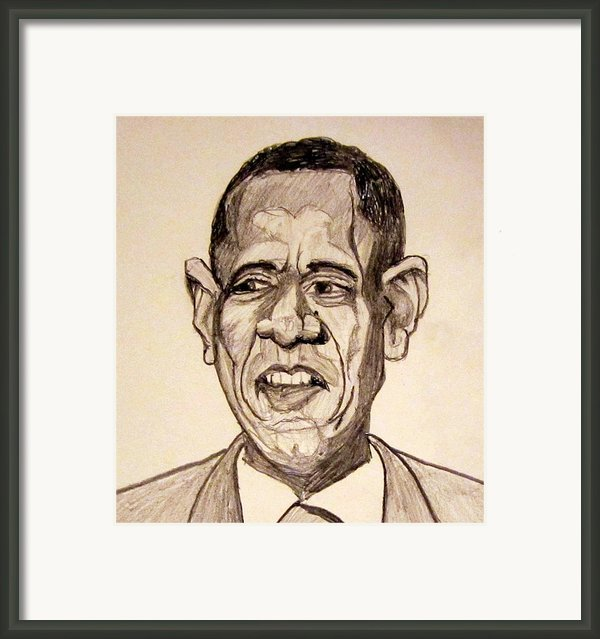 Barack Obama - Lifestyles Over Livelihood Framed Print By Donald William