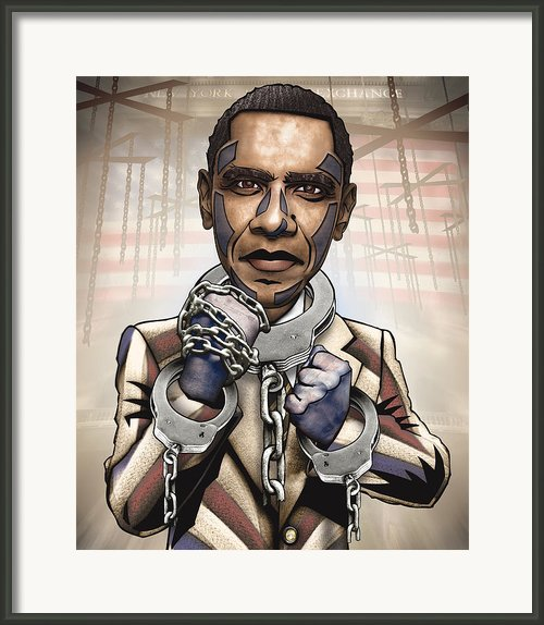 Barack Obama - Stimulate This Framed Print By Sam Kirk
