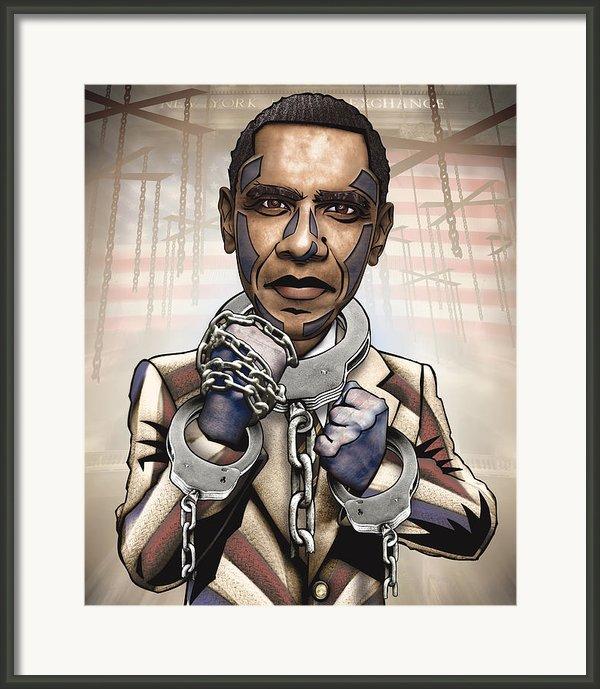 Barack Obama - Stimulate This Framed Print By Sam Kirk