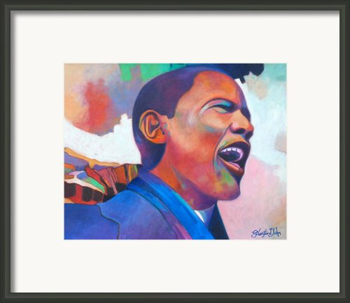 Barack Obama Framed Print By Glenford John