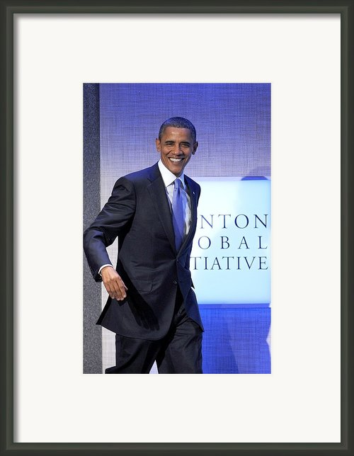 Barack Obama In Attendance For Annual Framed Print By Everett