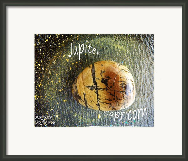 Barack Obama Jupiter Framed Print By Augusta Stylianou