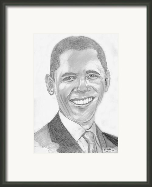 Barack Obama Framed Print By Tibi K