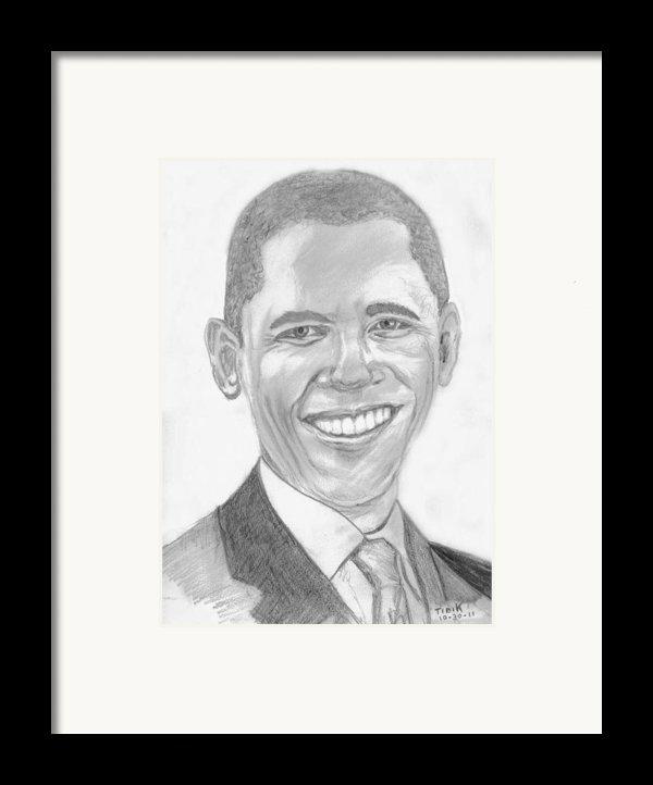 Barack Obama Framed Print By Tibi K