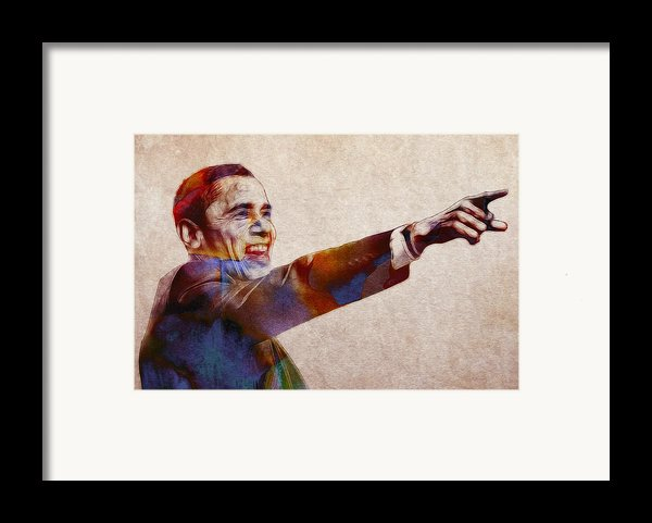 Barack Obama Watercolor Framed Print By Stefan Kuhn