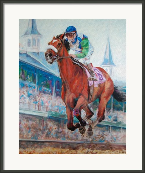Barbaro - Horse Of The Nation Framed Print By Leisa Temple