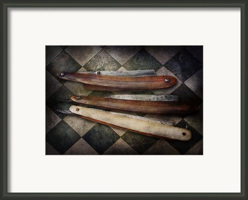 Barber - The Razor  Framed Print By Mike Savad