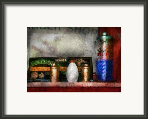Barber - Things You Stare At  Framed Print By Mike Savad