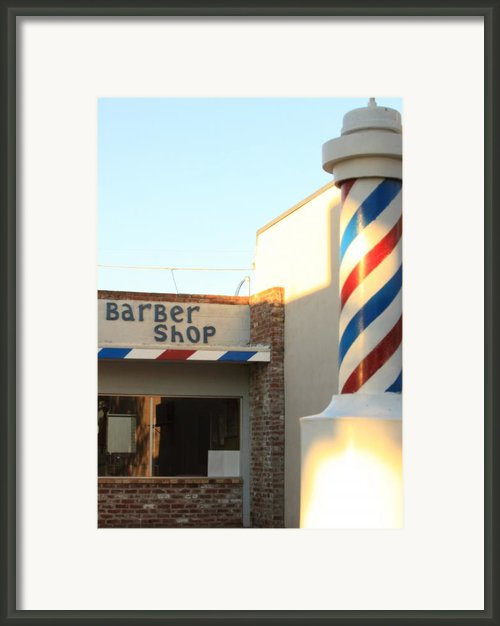 Barber Shop Framed Print By Troy Montemayor