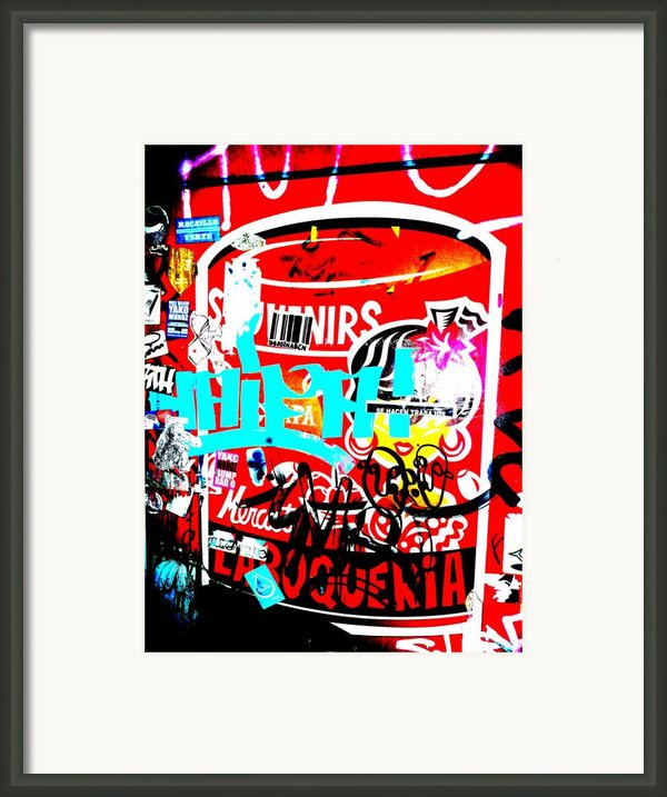 Barcelona Street Graffiti Framed Print By Funkpix Photo Hunter