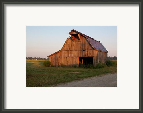 Barn At Early Dawn Framed Print By Douglas Barnett