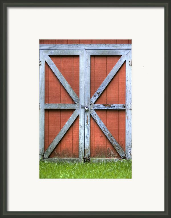 Barn Door 3 Framed Print By Dustin K Ryan