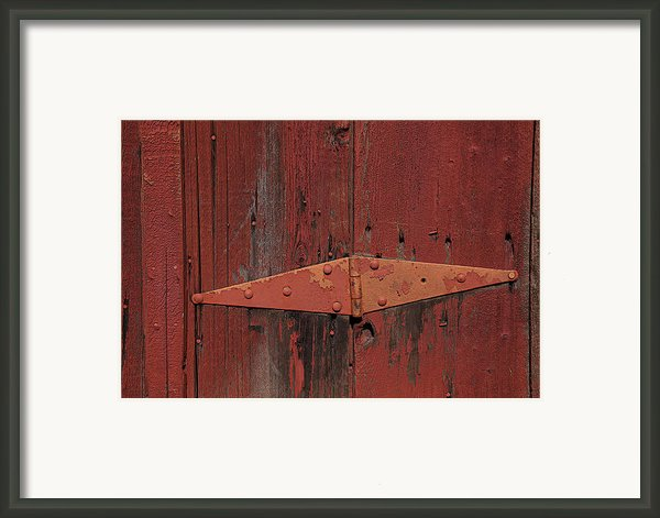 Barn Hinge Framed Print By Garry Gay