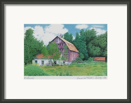 Barn Near Granby Framed Print By Wilfrid Barbier
