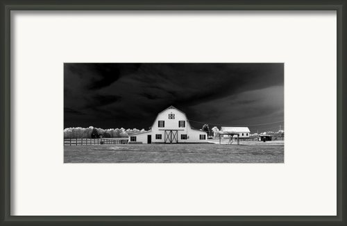 Barn Storm Framed Print By Julian Bralley
