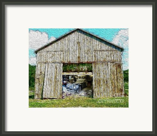 Barn Treasures Framed Print By Cheryl Young