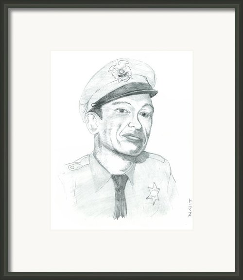 Barney Fife Framed Print By Thomas Elliott