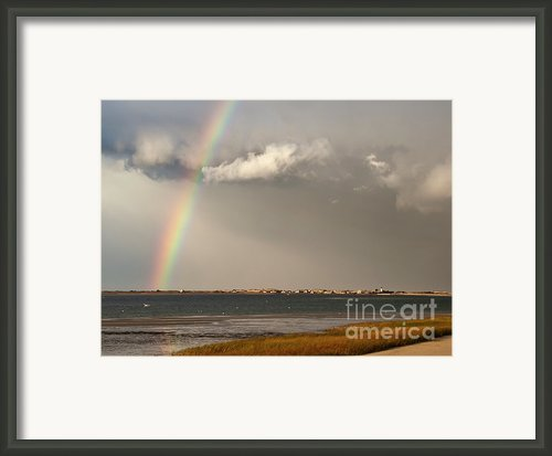 Barnstable Harbor Rainbow Framed Print By Charles Harden