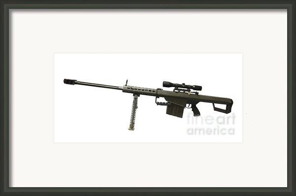 Barrett L82a1 Anti-materiel Rifle Framed Print By Andrew Chittock