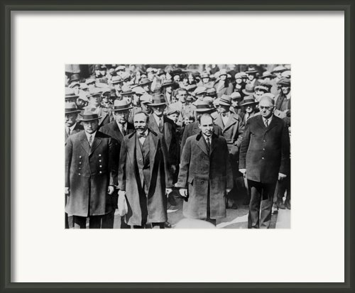 Bartolomeo Vanzetti Left And Nicola Framed Print By Everett