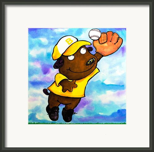 Baseball Dog 4 Framed Print By Scott Nelson